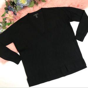J. Crew Merino V Neck Boyfriend Sweater